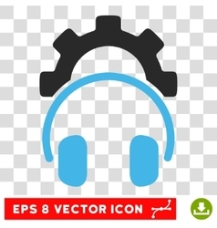 Headphones Configuration Eps Icon vector image