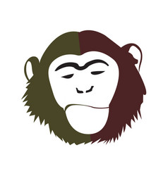 Isolated abstract monkey face vector