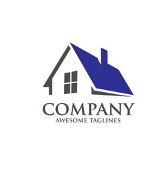 modern roofing logo concept vector image vector image