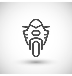 Modern sport motorcycle line icon vector