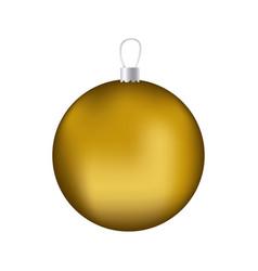 Realistic golden garland christmas decorative vector