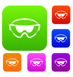 Safety glasses set collection vector