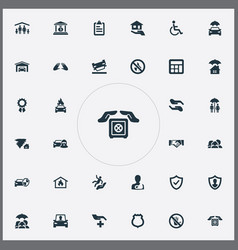 Set of simple warrant icons vector