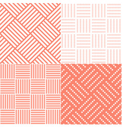 set of square tile seamless pattern vector image