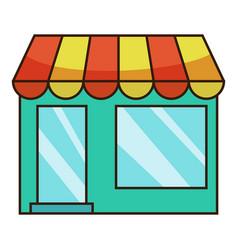 shop icon cartoon style vector image