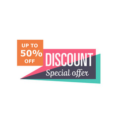 Special discount price isolated sticker vector