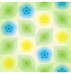 Vintage geometric seamless background vector