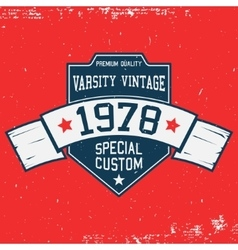 Vintage t-shirt template vector image vector image