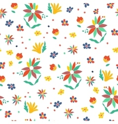 Seamless summer floral background isolated vector