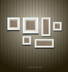 White frame on wallpaper background vector
