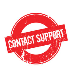 Contact support rubber stamp vector