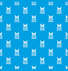 Paintball vest pattern seamless blue vector