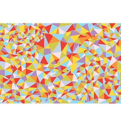 Mosaic triangle seamless pattern vector image
