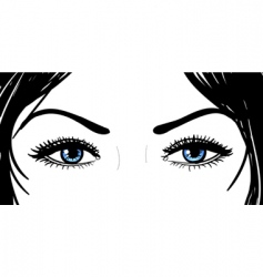 Girl eyes vector