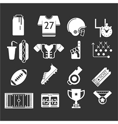White icons monochrome collection for American vector image