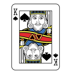 Stylized king of spades no card vector
