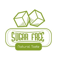 Sugar free design vector