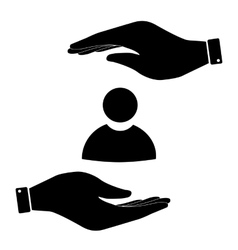 User sign in hand icon vector