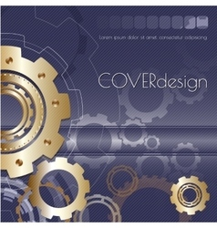 Design with golden cogwheels vector