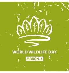 World wildlife day march3 poster vector