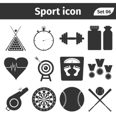 Sport and athletic icon set vector