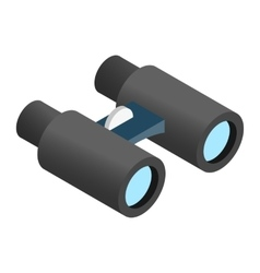 Binoculars 3d isometric icon vector