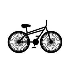 Black silhouette bicycle with pedals vector