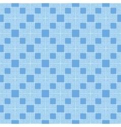 Blue seamless geometric greek ornament vector