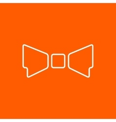 bow-tie icon Eps10 vector image