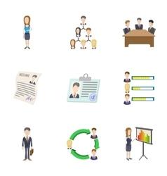 Businessman icons set cartoon style vector