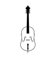 Cello musical instrument icon image vector