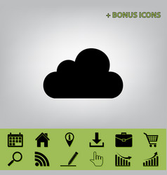 Cloud sign black icon at vector