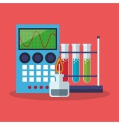 Colorful calculator and science design vector