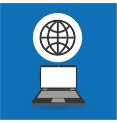 Computer analysis data globe world vector