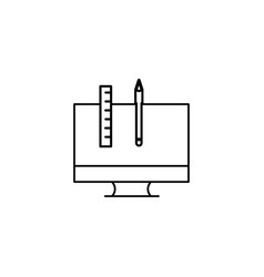 computer design tools icon vector image