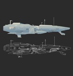 Creative ship design vector image vector image