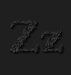 Decorated letter z vector image