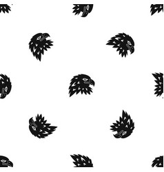 Eagle pattern seamless black vector