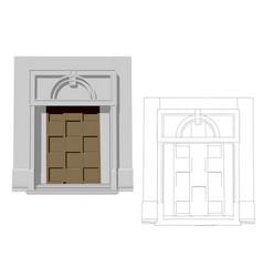 entrance door vector image vector image