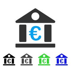 Euro bank museum flat icon vector