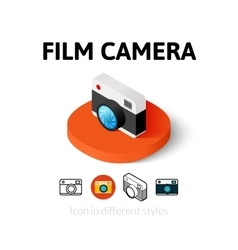 Film camera icon in different style vector image vector image