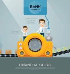 Financial advisor and bank vector