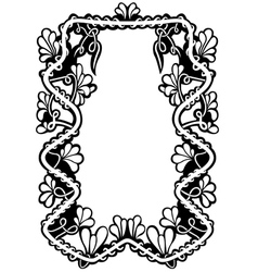 floral frame isolated vector image vector image