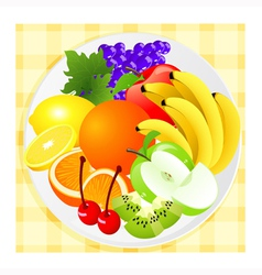 Fruit plate vector