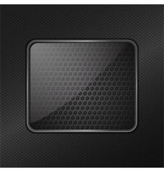 glass frame metallic background vector image vector image