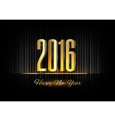 Gold New Year 2016 Luxury Symbol vector image vector image