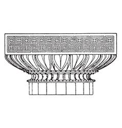 Graeco-doric capital an antique design vintage vector