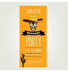 Invitation Mexican partyTypography vector image vector image