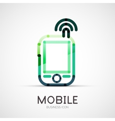 Mobile phone icon company logo business concept vector