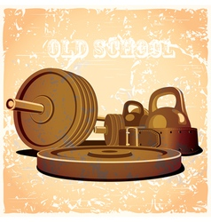 Old school gym hot vector